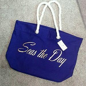"TRINA TURK | ""Seas The Day"" Tote Bag"